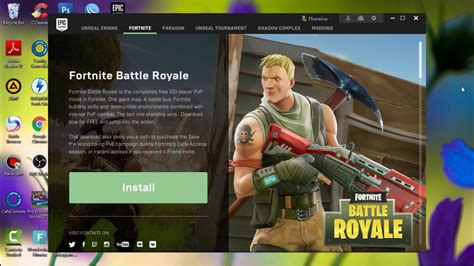 install fortnite battle royale  pc