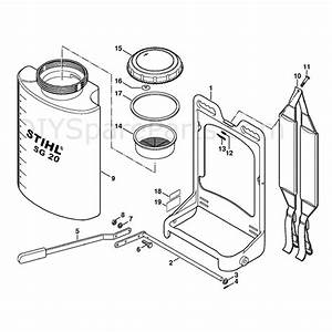 Stihl Sg 20 Sprayer  Sg20  Parts Diagram  Support Frame