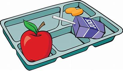 Tray Lunch Clipart Cafeteria Lunchbox Clip Meal