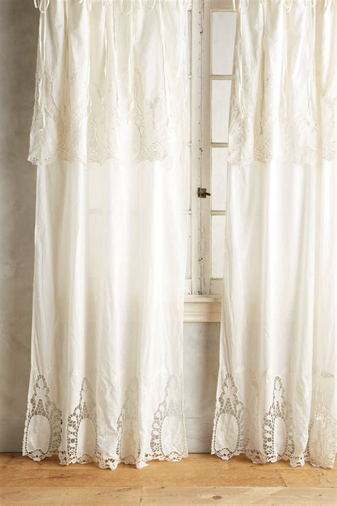 lace curtain anthropologie