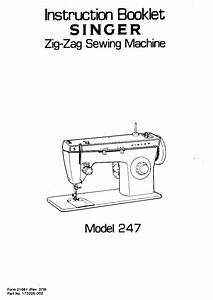 Singer 247 Instruction Manual