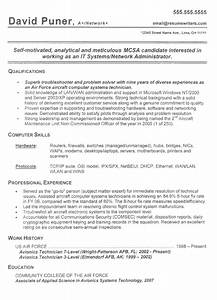 Military resume example sample military resumes and for Free military resume help