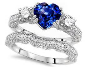 sapphire wedding ring sets wedding bands saphire wedding bands