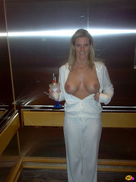 Drunk Wife Flashing Tits On Elevator