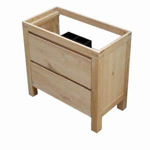 Meuble Sous Vasque Bois Massif : meuble sous vasque harmon 90 cm castorama ~ Teatrodelosmanantiales.com Idées de Décoration