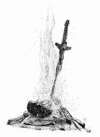 Souls Dark Bonfire Drawing Zapytania Znalezione Obrazy