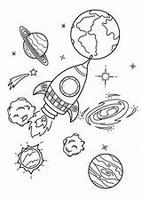 Planets Spaceship Coloring Pages Printable Children Categories sketch template