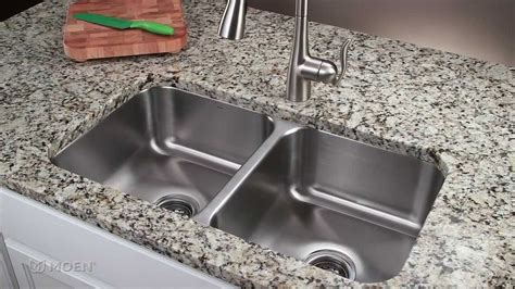how to install a kitchen sink faucet how to install a stainless steel undermount kitchen sink moen installation youtube