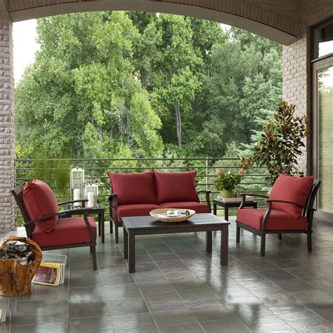 allen roth gatewood 4 piece outdoor conversation set