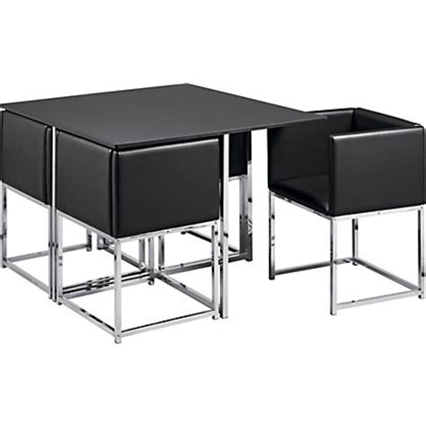 hygena lucia space saver table and 4 chairs