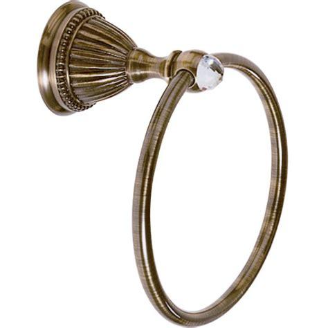8164qu santec monarch crystal towel ring w swarovski