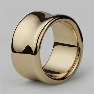 Liquid extra wide ring in solid 14ct 18ct yellow gold for Wedding rings under 150
