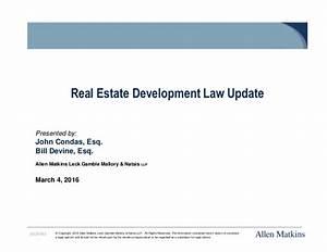Real Estate Development Law Update