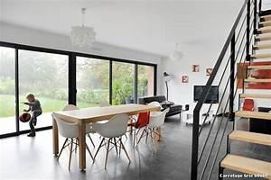 carrelage gris 60x60 with contemporain salle a manger With carrelage salle à manger