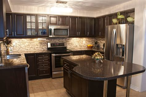 black kitchen cabinets with floors brown cabinets black countertops new house designs 9296