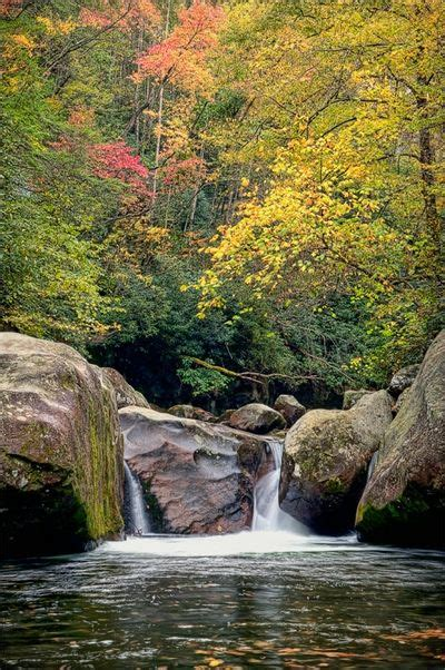 Autumn In Smoky Mountains National Park, Tennessee Top