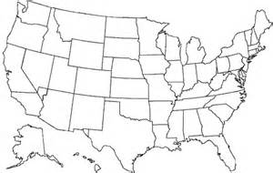 Blank United States Map including Alaska and Hawaii