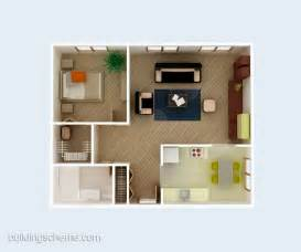 Simple House Designs And Floor Plans 3d Building Scheme And Floor Plans Ideas For House And Office Design Simple 3d House Plan