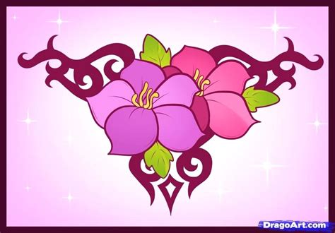 Cool Flower Designs Flower Designs Drawing Justcopeco