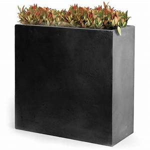 Bac A Fleur Balcon : bac fleurs fibre de terre clayfibre l60 h72 cm anthracite plantes et jardins ~ Teatrodelosmanantiales.com Idées de Décoration