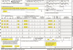 DHS: Attachement B: CMS - 1500 Form Example