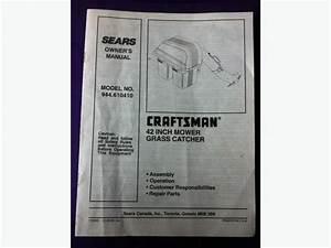 Craftsman - 42 U0026quot  Mower Grass Catcher