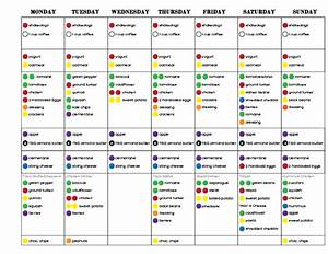 round 1 week 2 21 day fix challenge pack 21 day fix With portion control template
