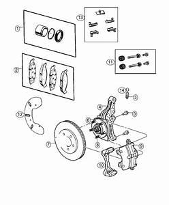 Dodge Journey Rotor  Brake  Front   Anti