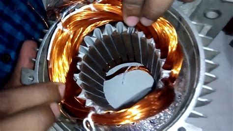 Motor Rewinding by How Make Single Phase Motor 2 Pole Chain Rewinding With