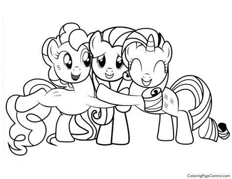 pony friendship  magic  coloring page