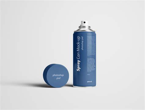 Spray Can Mockup Photoshop Psd