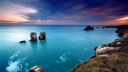 Sea Aerial Nature Landscape Rocks Desktop Backgrounds