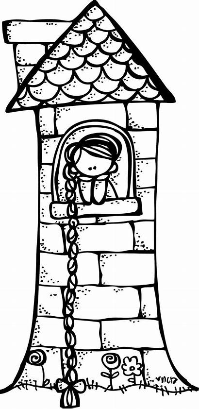 Rapunzel Melonheadz Clipart Castle Coloring Pages Freebie