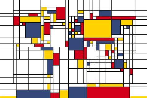 chambres d h el piet mondrian style map decoration murale papier