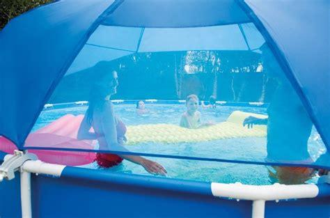 intex sonnendach sonnenschutz pool canopy fuer frame pools