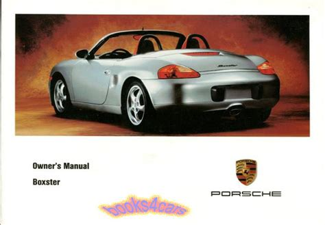 car repair manuals download 1999 porsche boxster on board diagnostic system boxster owners manual 1999 porsche handbook drivers guide book 99 986 s