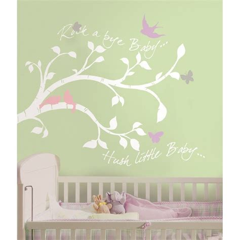 White Tree Branches Wall Decals Girl Or Boy Nursery