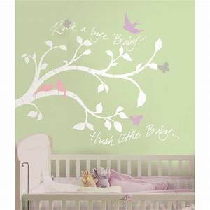 white tree branches wall decals girl or boy nursery With girl wall decals