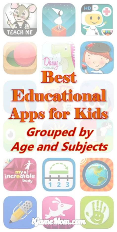 best educational apps for igamemom 590 | Best Educational Apps for Kids Grouped by Age Subject