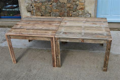 table cuisine palette beau table de jardin en palette et craations et meubles en