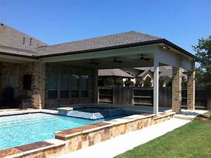 Covered Pool Patio Design — Harper Noel Homes : The Act of ...