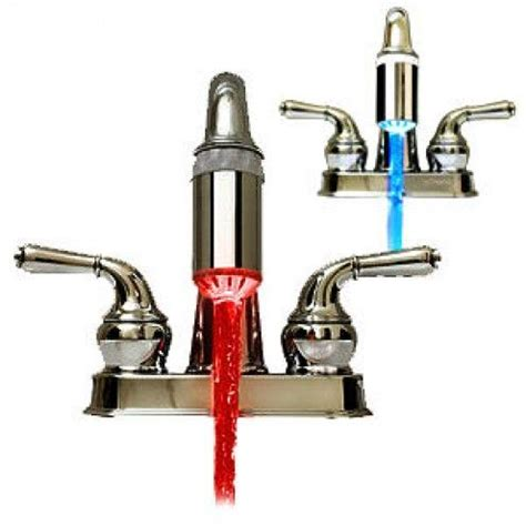 Turns blue when cold and red when hot | Led faucet, Faucet ...