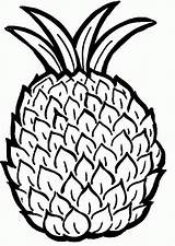 Coloring Pineapple Pages Printable Pdf sketch template