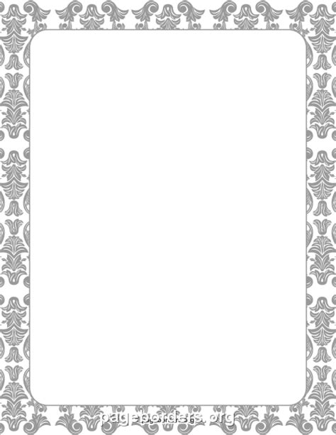 damask border clip art page border  vector graphics