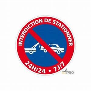 Panneau Interdit De Stationner : panneau rond interdiction de stationner 24h 24 et 7j 7 ~ Dailycaller-alerts.com Idées de Décoration