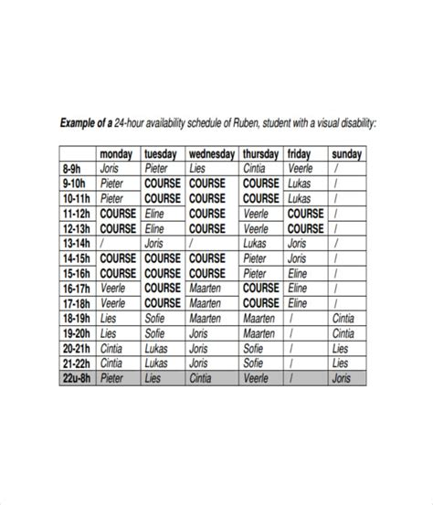 Timetable Templates 21 Free Word Pdf Excel Templates 21 Schedule Templates Free Word Pdf Documents