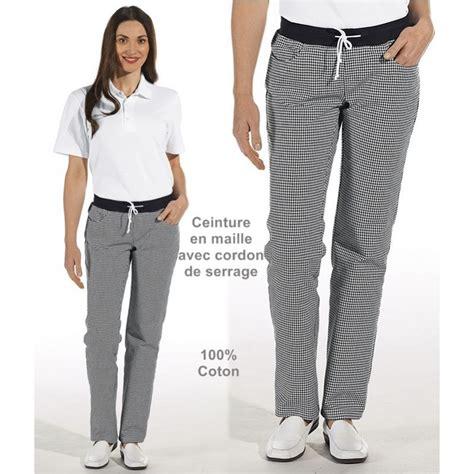 pantalon de cuisine femme pantalon de cuisine femme ceinture en maille noir et