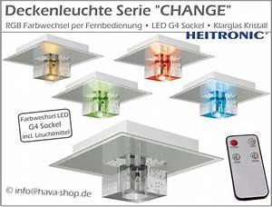 Deckenleuchte Led Farbwechsel : rgb led design deckenleuchte leuchte farbwechsel ~ Watch28wear.com Haus und Dekorationen