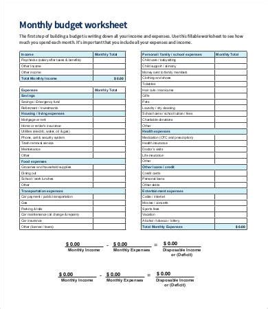 budget sheet template   word excel