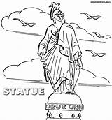 Statue Coloring Pages Colorings Rome sketch template
